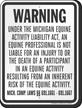 Michigan Equine Liability Sign