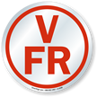 V F/R Floor/Roof Truss Sign Circular