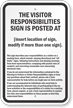 New York Agritourism Liability Sign