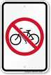 No Bikes Sign