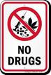 No Drugs Sign with No Marijuana Symbol