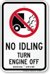 State Idle Sign for Detroit, Michigan