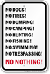 No Nothing Funny Security Sign