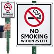 No Smoking LawnBoss® Sign & Stake Kit