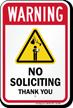 No Soliciting Thank You Warning Sign