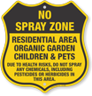 No Spray Shield Sign
