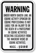 North Dakota Equine Liability Sign