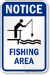 Notice Fishing Area Water Safety Sign