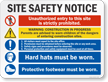 Notice Multi Message Job Site Safety Sign