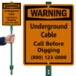 Personalized Underground Cable Lawnboss™ Sign & Stake Kit