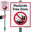 Pesticide Free Zone LawnBoss Sign