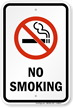 Plastic No Smoking Sign (with Graphic)