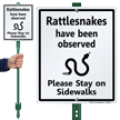 Rattlesnakes Have Been Observed Lawnboss Sign Kit