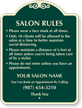 Salon Rules Add Your Salon Name Custom Signature Sign