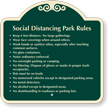 Social Distancing Park Rules Custom Signature Sign