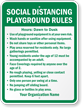 Social Distancing Playground Rules Add Name Custom Sign