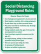 Social Distancing Playground Rules Sign