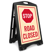 Road Closed Stop Sidewalk Sign Kit