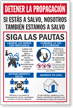 Stop the Spread If You Are Safe We Are Safe Too Spanish Sign Panel