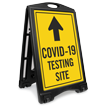 Testing Site Up Arrow Portable Sidewalk Sign
