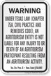 Texas Agritourism Liability Sign