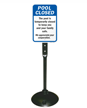 Pool Safety Sign and Base Kit