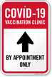 COVID-19 Vaccination Clinic, By Appointment Only