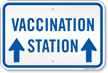 Vaccination Station with Up Arrow