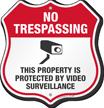 No Trespassing Shield Sign
