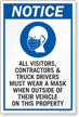 Visitors Contractors Truck Drivers Must Wear A Mask Sign Panel