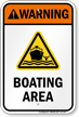 Warning Boating Area Water Safety Sign
