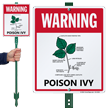 Warning Poison IVY LawnBoss Sign