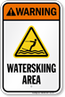 Warning Waterskiing Area Water Safety Sign