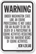 Washington Equine Liability Sign