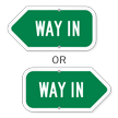 Way In Directional Sign