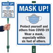 Wear A Mask Within 6 Feet Of Others LawnBoss Sign & Stake Kit