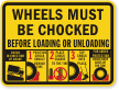 Wheel Chock Sign