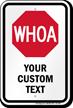 WHOA Add Custom Text Horse Sign