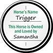 Horse Information Sign