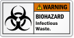Biohazard Infectious Waste ANSI Warning Label