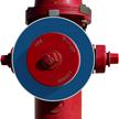 Blank Blue Fire Hydrant Marker