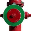 Blank Green Fire Hydrant Marker