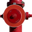 Blank Red Fire Hydrant Ring