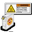 ISO Burn Hazard, Hot Surface Grab-a-Labels Dispenser Box