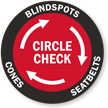 Circle Check Blindspots Cones Seatbelts Truck Security Label