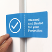 Tamper Evident Cleaned and Sealed for Your Protection with Perforation Label