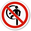 Do Not Enter Confined Space ISO Prohibition Label