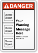 Custom Multiple Cliparts ANSI Danger Label