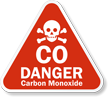 Danger Carbon Monoxide Sign