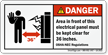 Danger, Electrical Panel Area, Keep Clear Label